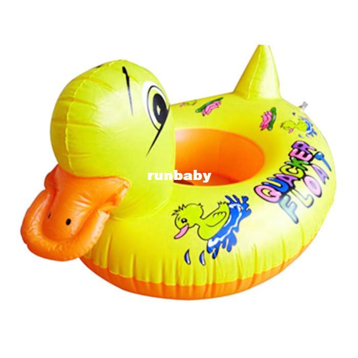 2018 Swimming Pool Accessories Baby Kids Swimming Yellow Rhubarb Duck Trainer Seat Inflatable