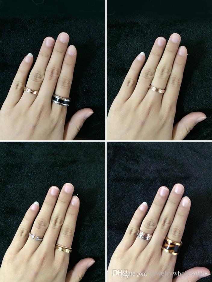 NIEUWE Design Hot Sale Rvs Goede Kwaliteit kan niet Fade Color Crystal Romeinse cijfers Mode Bruiloft Nieuwe Design Finger Ring