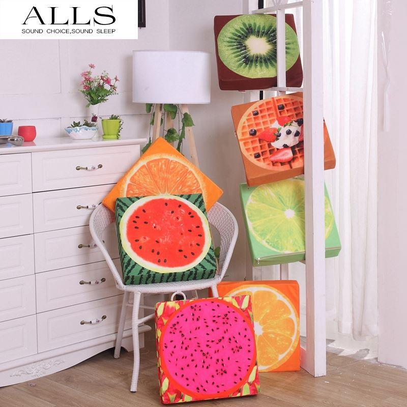 3d Fruit Cushion Square Chair Pad Seat Cushion Orange Dragon Fruit Print  Lemon Throw Pillows Buy Outdoor Cushions Large Garden Cushions From  Weng250, ...