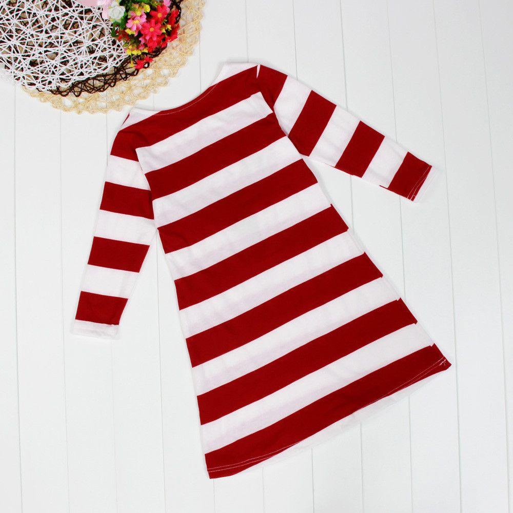 Neue Baby und Mutter Kleid Mädchen Kleid Weihnachten Familie aussehen Frauen Kinder Pyjamas Kinder Kleidung Streifen Hirsch Weihnachten Familie ausgestattete Familie Kleidung