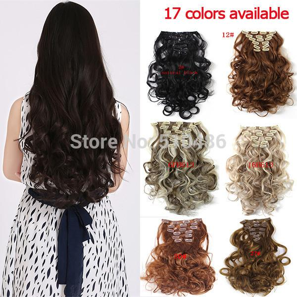 Curly Hair Extension Clip In Hair Extension Synthetic Wavy Hair