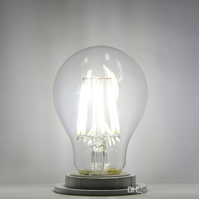 Super Bright E27 / B22 / E26 Светодиодные лампы накалины 360 Угол A60 Светодиодные фонари Эдисон Лампа 4W / 6W / 8W 220-240V