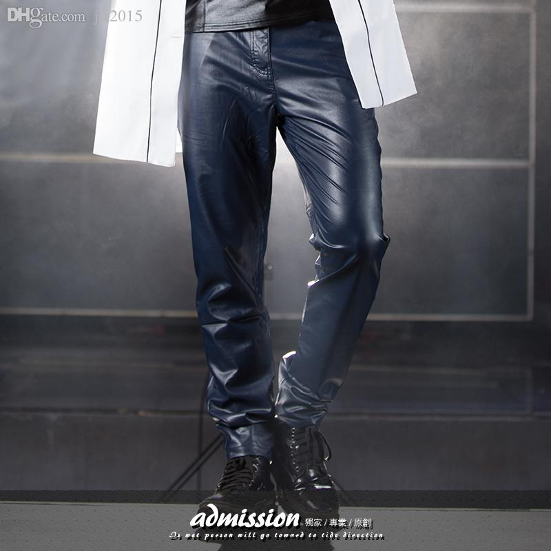 quality design latest style of 2019 top-rated Blue Leather Pants