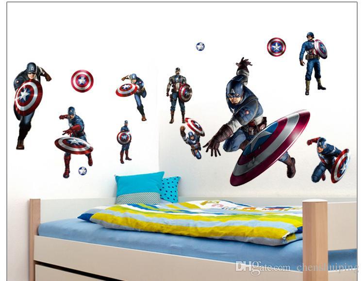 2 스타일 홈 3D 어벤저 스 보육 장식 DIY 키즈 룸 벽 데칼 removeable wallpaper 벽화 스티커