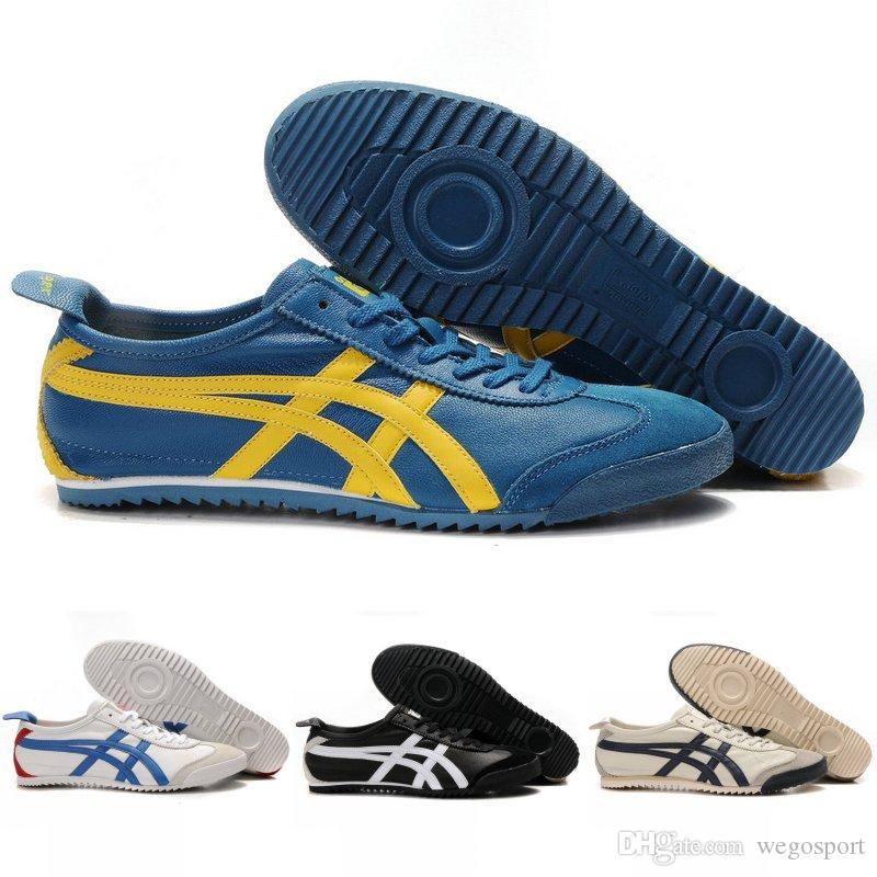 outlet store f50ae f8a23 2018 Asics Originals Onitsuka Tiger Sheepskin Lightweight MEXICO 66 Running  Shoes men women Sport boots Best Quality Athletics Sneakers