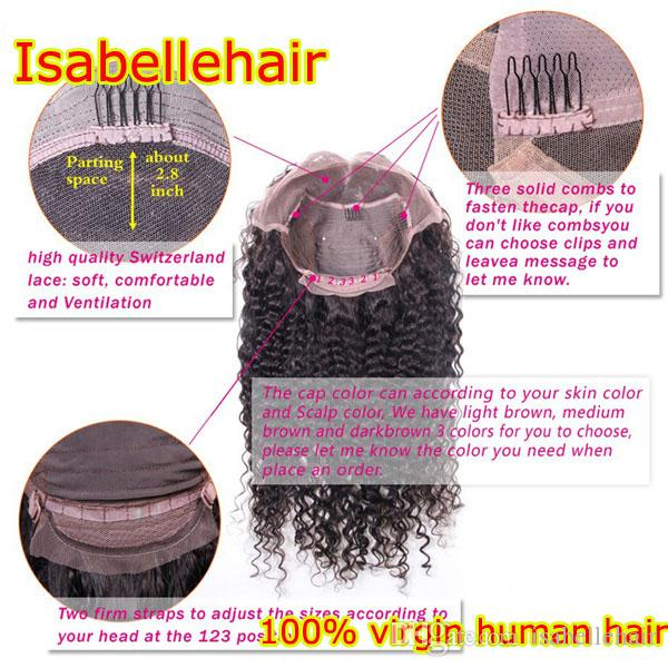 Fashion Kinky Curly Full Lace Wig / Lace Front Wigs For Black Women 8A Unprocessed Brazilian Lace Wig Human Hair With Baby Hair