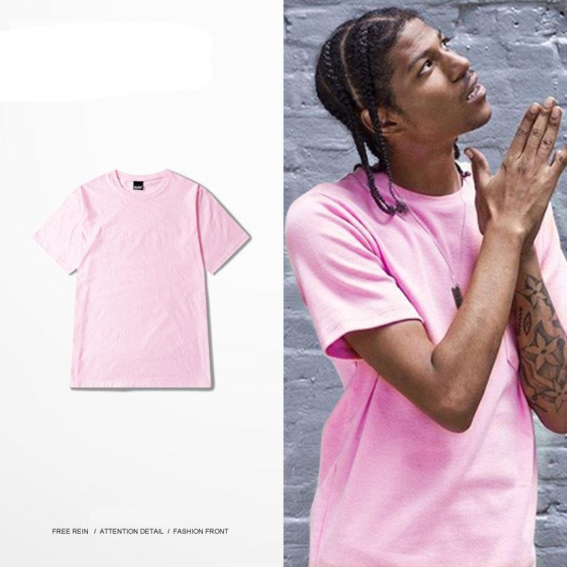 Hot Ulzzang Style Men/Women T Shirt Hip Hop Streetwear Pink Brand ...