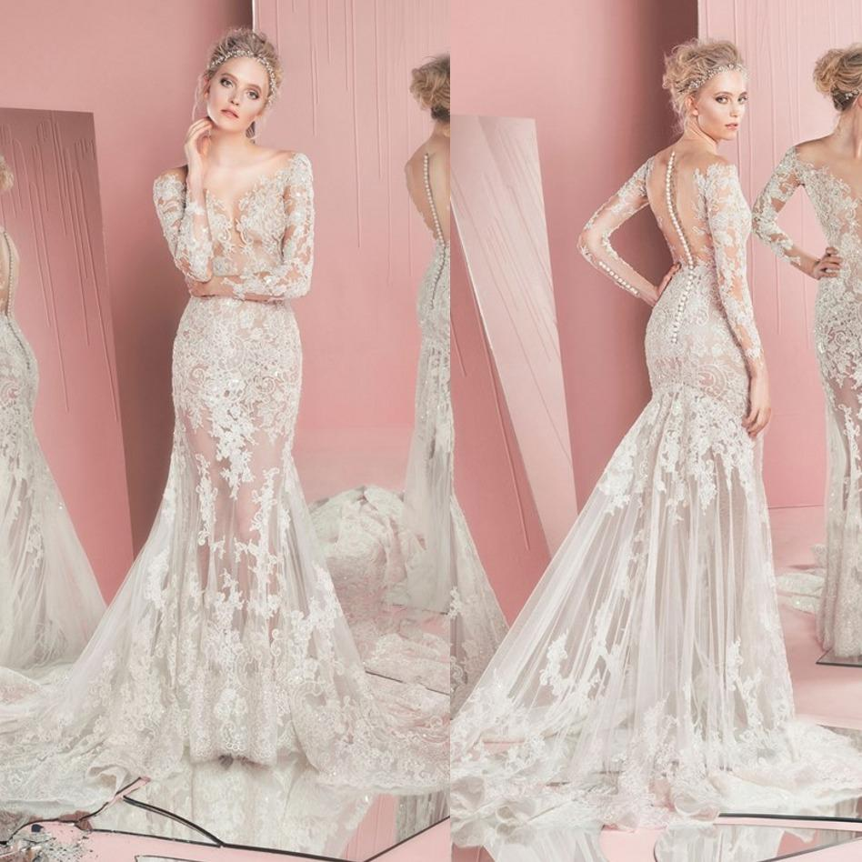 2016 Princess Lace Wedding Dresses Pictures Zuhair Murad Long ...