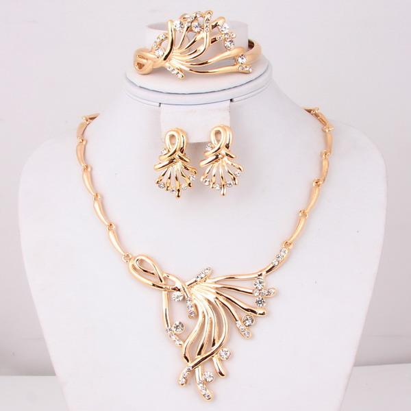 dubai gold jewelry set wedding jewellery