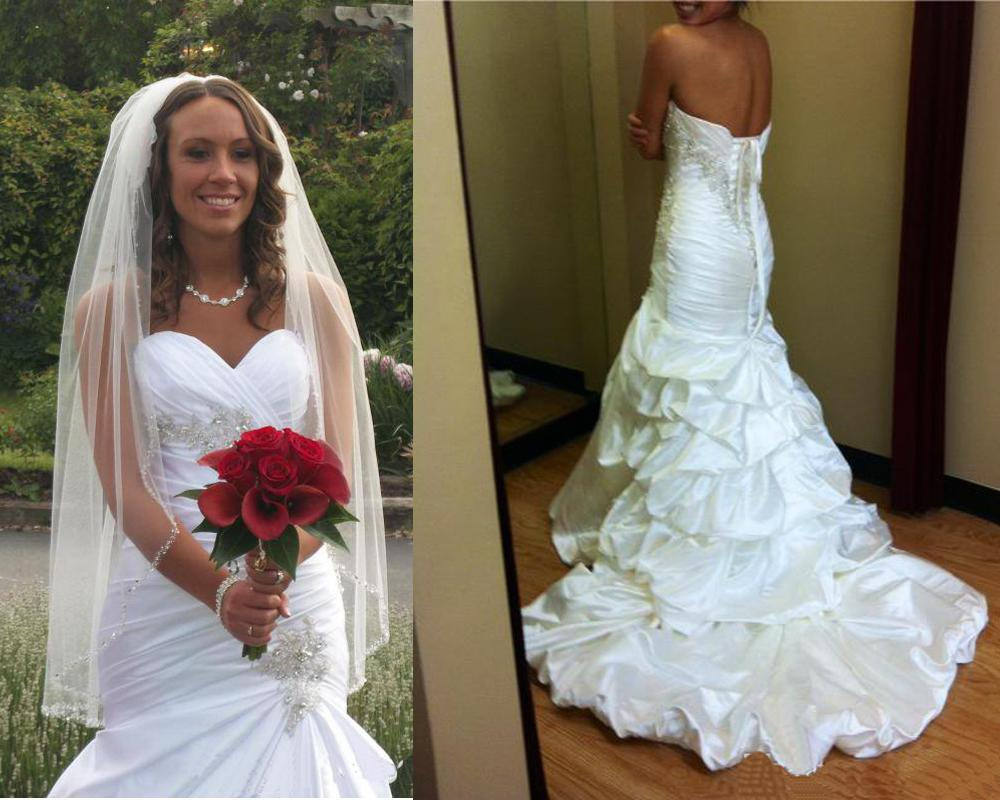 Luxury Mermaid Wedding Dresses Taffeta Wedding Bridal Gowns ...