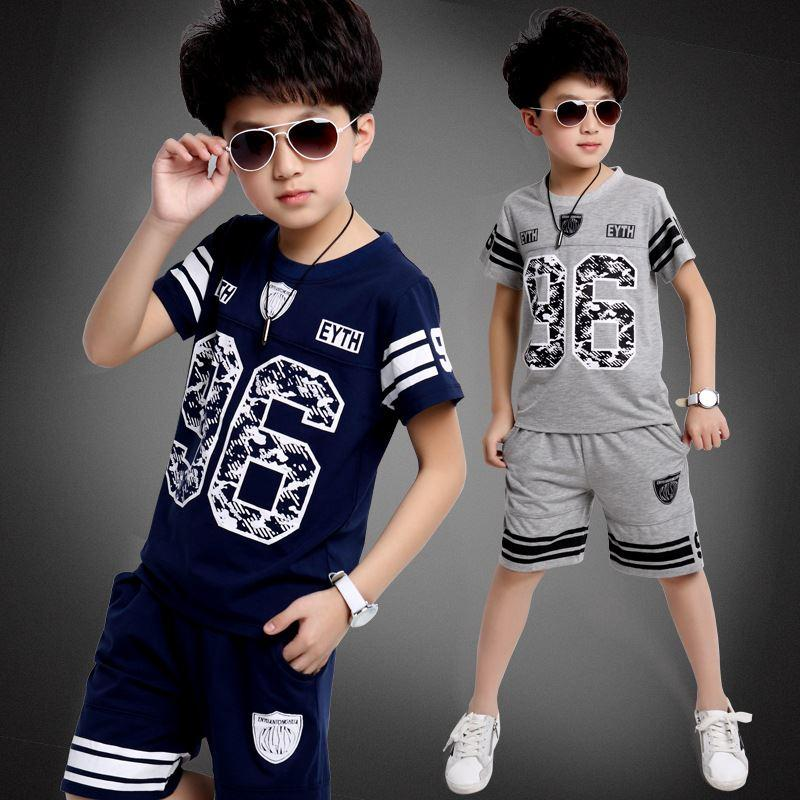 2018 kids 5 6 7 8 9 year old boy suits 2015 summer short for Cool t shirts for 12 year olds