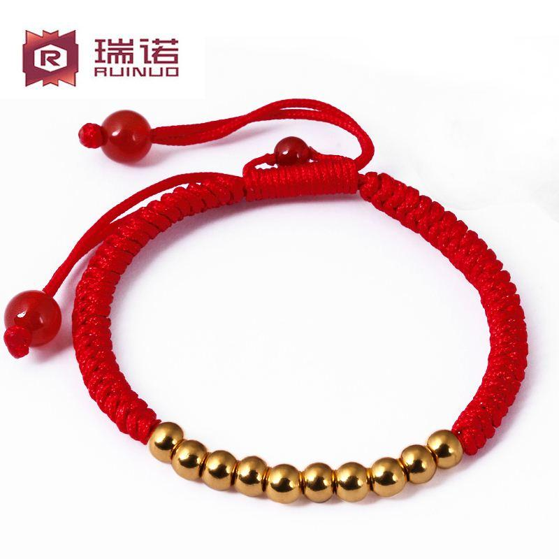 product red star friendship in bracelet swarovski jewelry chain lyst and orelia gold