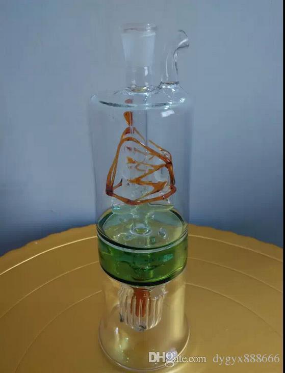 El pote de cristal clásico del color de dos capas, colores, estilos es entrega al azar, cachimba de cristal al por mayor, envío libre, grande mejor