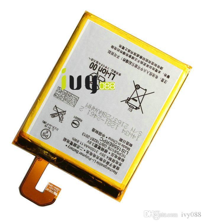 100 ٪ الأصلي LIS1558ERPC 3100 مللي أمبير استبدال البطارية لسوني z3 L55 L55T L55U D6603 D6653 D6616 D6633 بطاريات batteria batterij