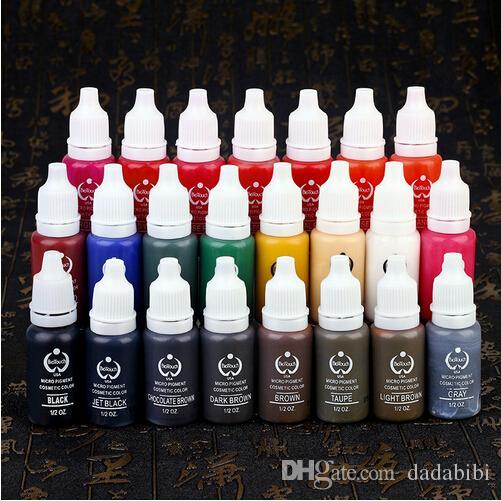 YENI VARıŞ Dövme mürekkep kalıcı makyaj pigmentler 15 ml kozmetik dövme mürekkep boya kaş dudak vücut için 2 adet Yeni 23 RENK
