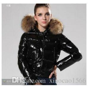 2018 Womens Faux Fur Collar Parka Down Cotton Peacoat Belt Hooded ...