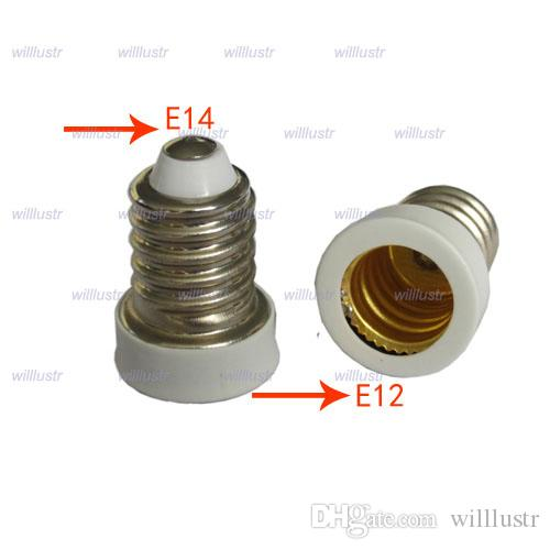 E14 to E12 lamp base Adapter Converter bulb adaptor Led Halogen CFL light bulb lamp