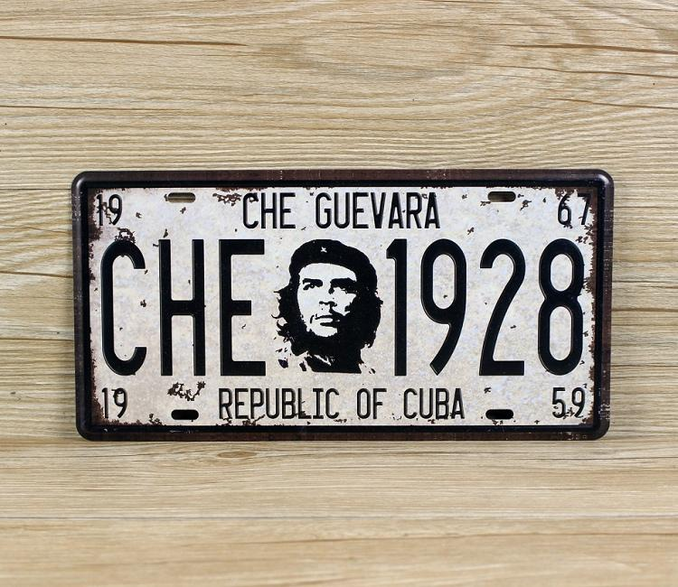 new 2015 CHE 1928 Guevara retro license plate Tin Sign Vintage Metal Painting Tin Plate cafe bar garage Wall Decoration Home Decor Art