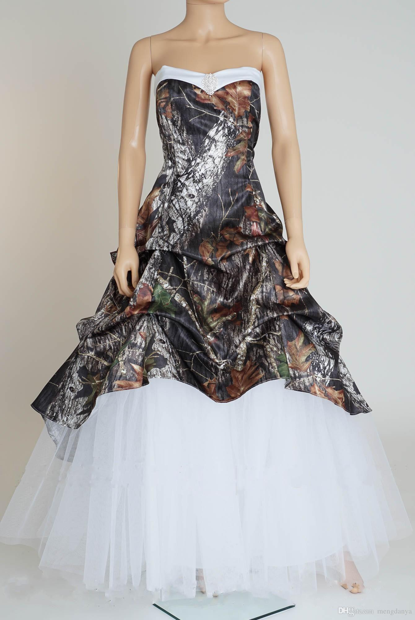 1944fa7b1c .Real Picture 2018 Camo Camouflage Wedding Dresses Lace Up Back Bridal  Dresses Unique Realtree Partten With White Tulle Wedding Gowns Formal Gowns  Red ...