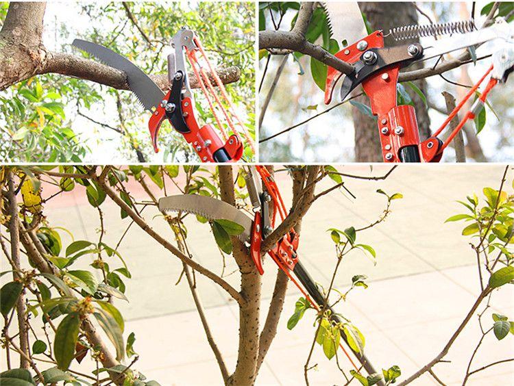 무료 배송 높은 고도 3 풀리 가지 치기 가위 나무 트리머 정원 가위 가지 커터 톱 과일로드하지 않고 절삭 공구 선택