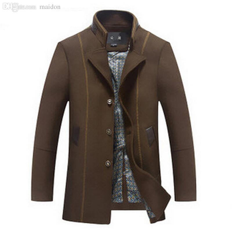 Best Fall Mens Short Trench Coat Alpaca Coat Wool Coat Men'S Fall ...