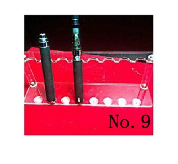 Acrylic e cig Display Case Stand Electronic Cigarette Stand Shelf Holder Rack for e cigarette e-cig ego Battery Vaporizer ecigs MOD Drip Tip