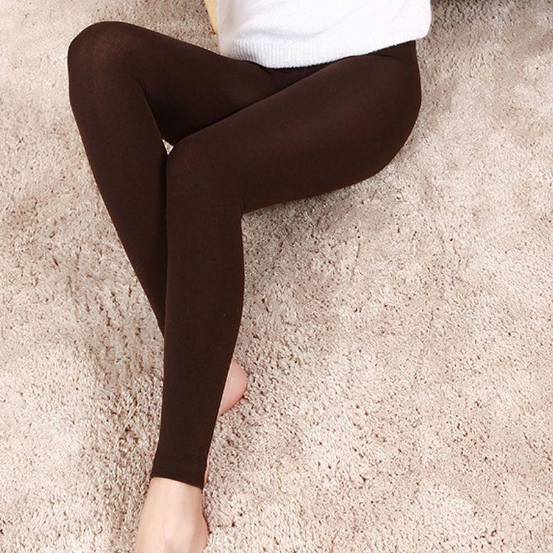 5c84e51c065caf 2019 2018 Fashion Knitted Slim Leggings Super Elastic Sexy Leggings For  Women Arrival Casual Warm Winter Thin Faux Velvet Ankle Length Leggings  From ...