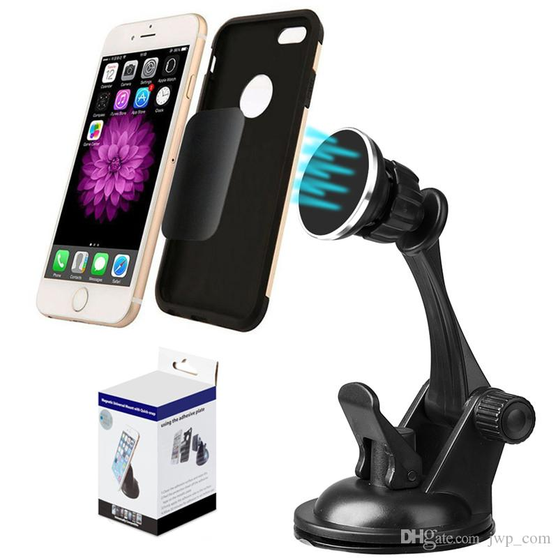 67c320261514 Car Air Vent Holder Magnet Phone Mount Windshield Bracket Sucker Potable  Adjustable Cradle for iPhone Samsung Galaxy HTC