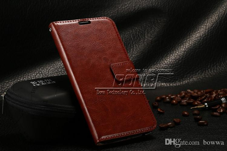 Vintage Retro Flip Stand Wallet Leather Case With Photo Frame ID Card Holder Phone Cover For HTC M9 M8
