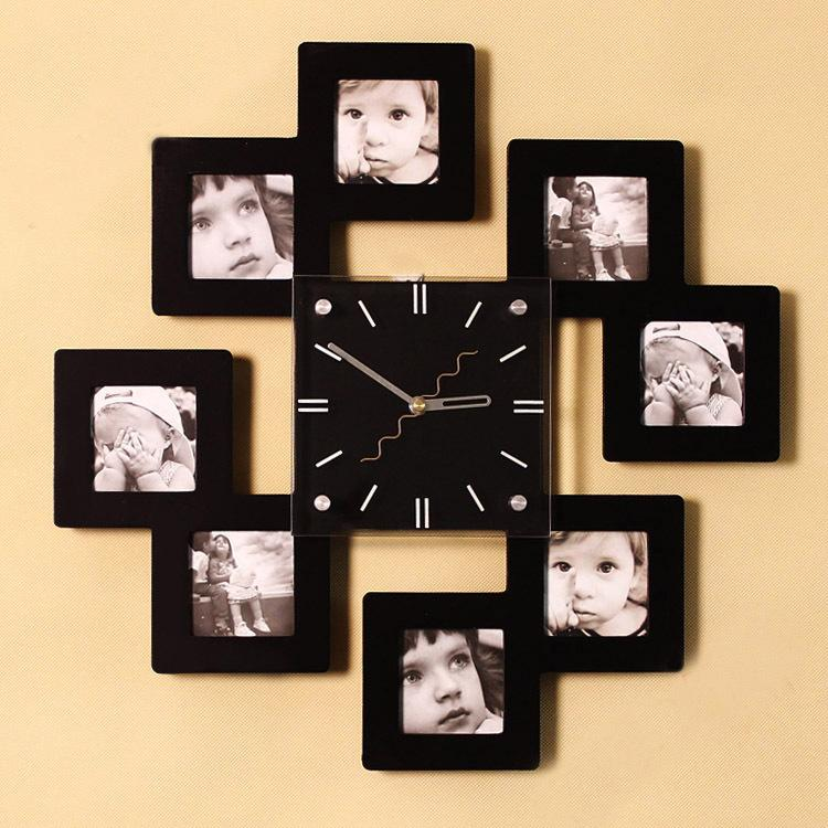 Pleasing 25+ Picture Frame Wall Clock Decorating Inspiration Of ...