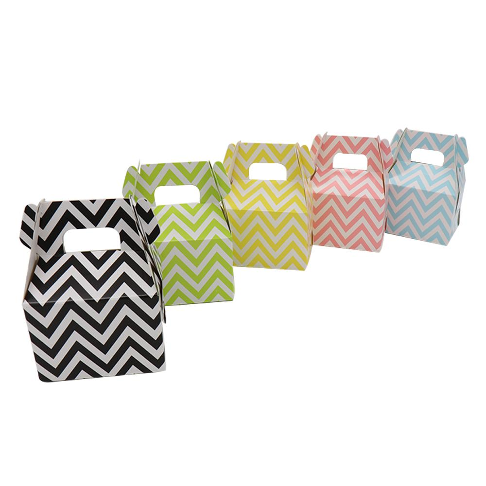 Stripe Polka Dot Chevron Paper Candy Box Gift Bag Chocolate ...