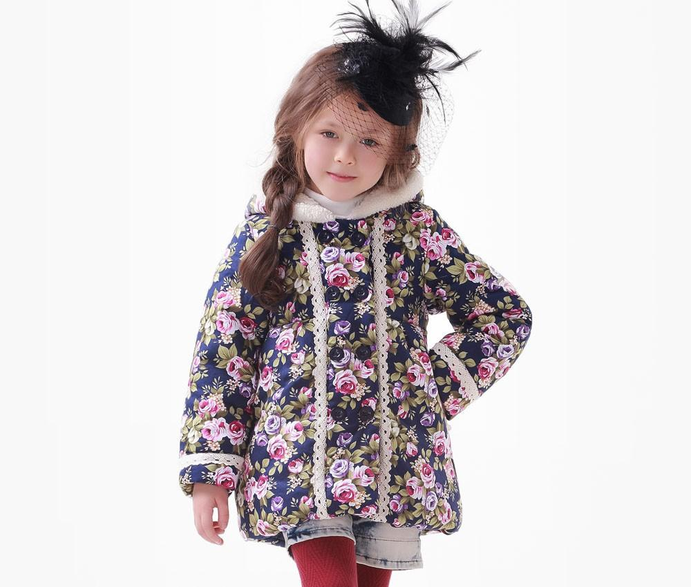 Fashion Girl Winter Parkas Children Clothing Baby Outerwear Hoody ...