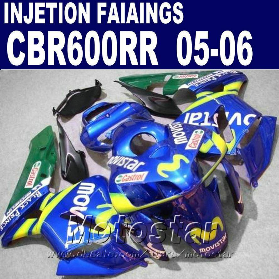 Popüler mavi! HONDA CBR 600 RR Fairing 2005 2006 cbr600rr 05 06 cbr 600rr kaportalar X9CH için Enjeksiyon Kalıplama