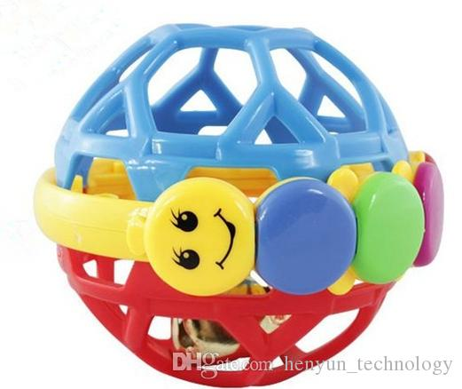 Забавный шарик колокольчика, схватив мяч детские игрушки Высококачественные пластиковые красочные тактильные ощущения движения ползающие игрушки