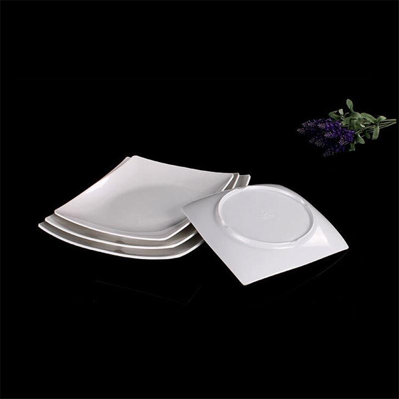 Best New White Dinner Plates Restaurant Dinner Plate Square Dinner Plates Plastic Material Unique Design For Sale Under $51.71 | Dhgate.Com & Best New White Dinner Plates Restaurant Dinner Plate Square Dinner ...