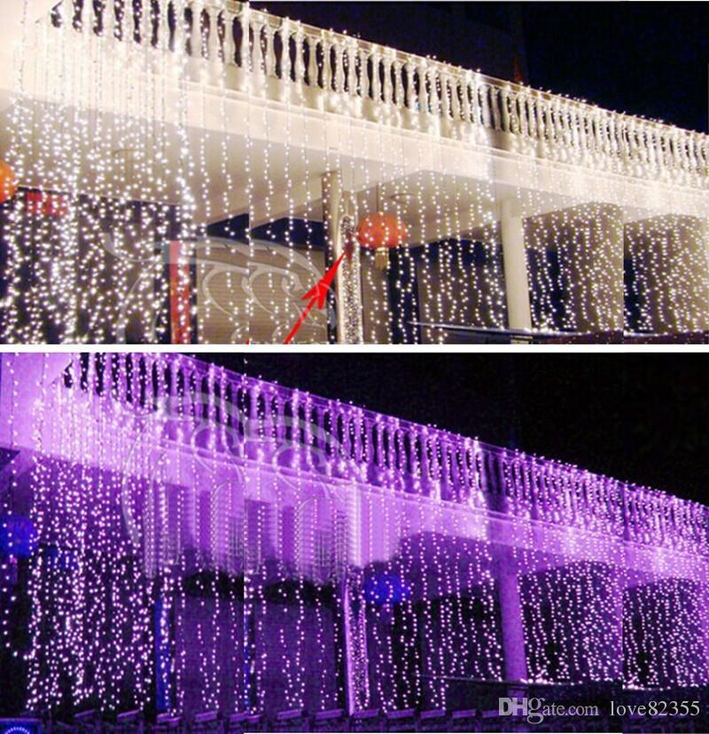 10 * 5M 1600 المصابيح الصمام الإضاءة سلسلة أضواء عيد الميلاد الستار الثريا جارلاند السنة الجديدة الجنية الزفاف KTV بار في الهواء الطلق