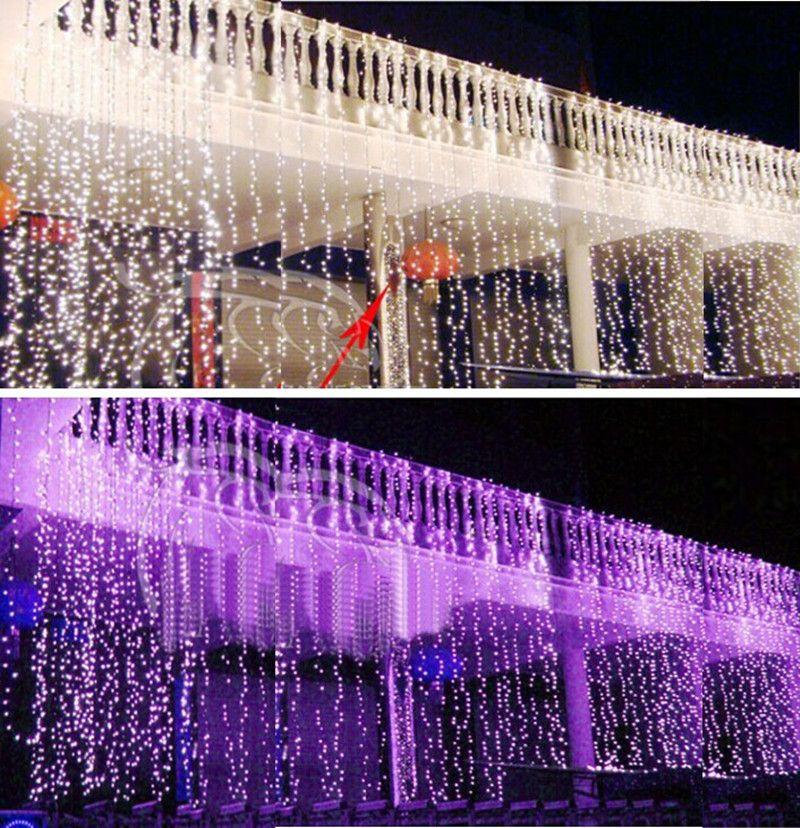 8 Flash Modes 4mx 5m 640 LEDs lights lane LED String lamps curtain Fairy Christmas garden wedding festival light effect bulb