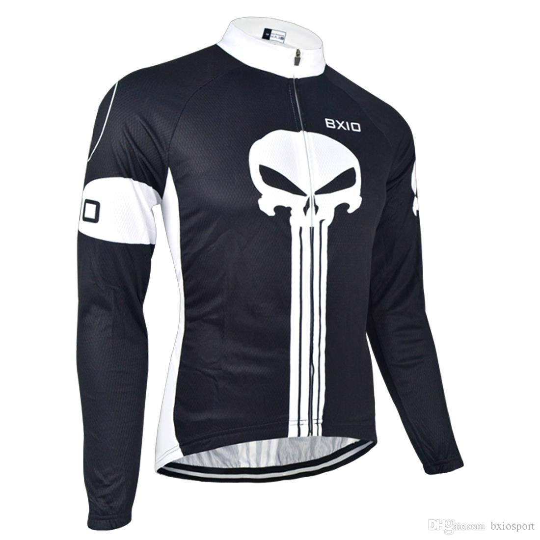 133ae472e BXIO Brand Cycling Clothing Long Sleeve Winter Cycling Jersey Autumn  Cycling Shirt Skull Black Anti UV Bicycle Clothing BX 024 Bike Shirts Biking  Clothes ...