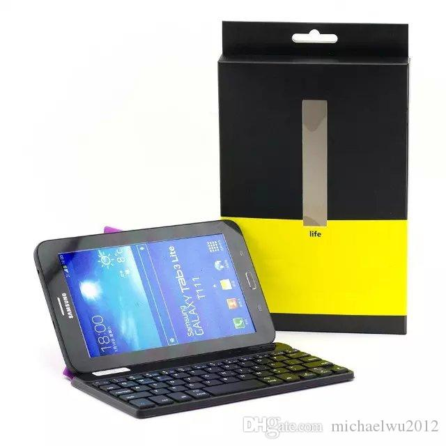 """Slim Transformers Wireless Bluetooth Keyboard Stand Case For Universal IOS ANDROID WINDOWS 7-10 """" Tablet and Smartphone"""