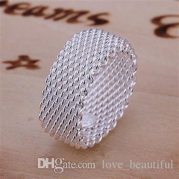 Vente chaude plaqué 925 Sterling Silver Charms Bagues Anneaux Vintage Femmes filles anneau 30 Styles choisissent /