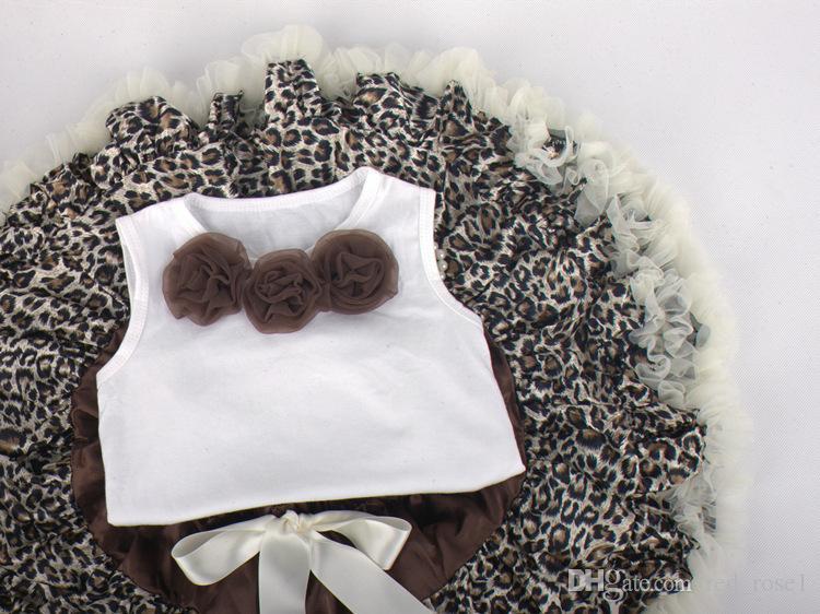 Girls' suits Children suit Girls Leopard Sets skirt suit Kids Clothing skirt sets children clothes kids clothes.