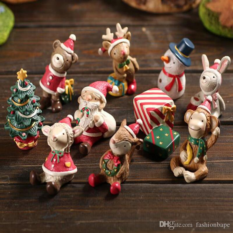 creative christmas decorations cute santa claus snowman christmas decoration supplies christmas figurine with box arts and crafts home christmas ornaments