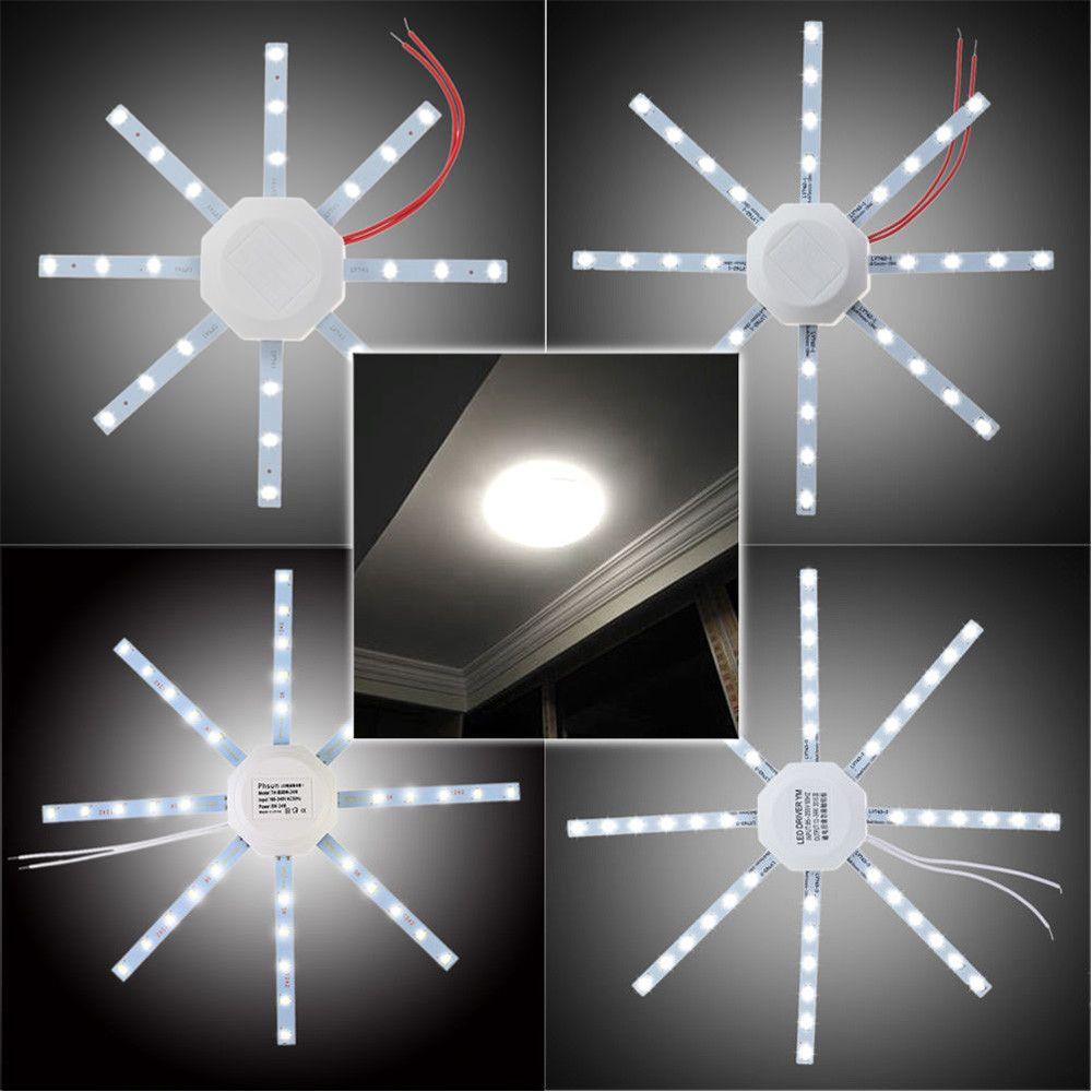 12W 16W 20W 24W LED Lámpara de techo Fuente de luz modificada Placa de la lámpara Pulpo 5730 SMD Blanco frío para la cocina redonda Dormitorio