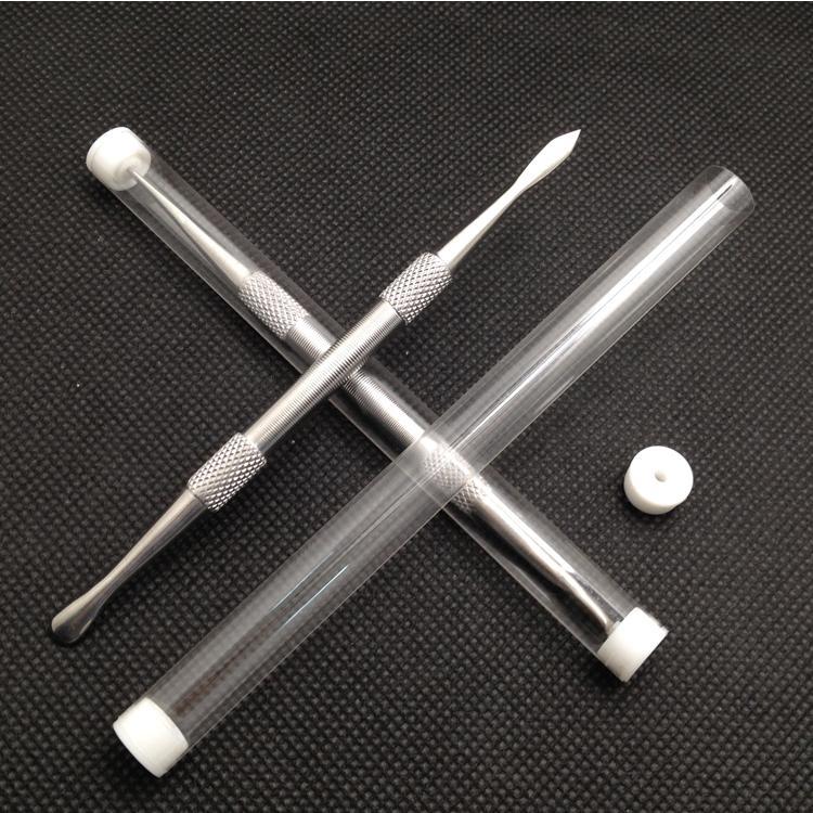新しいプラスチックチューブチタンツールGr2チタンダブの蝋燭の噴霧器ステンレス鋼のDabツールチタンネイルダイバーツールドライハーブの気化器