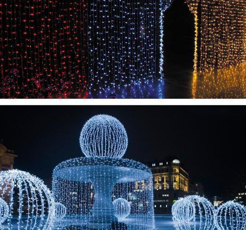 c68a7b54920 Compre 1600 Luces LED 10   5 M Luces De Cortina