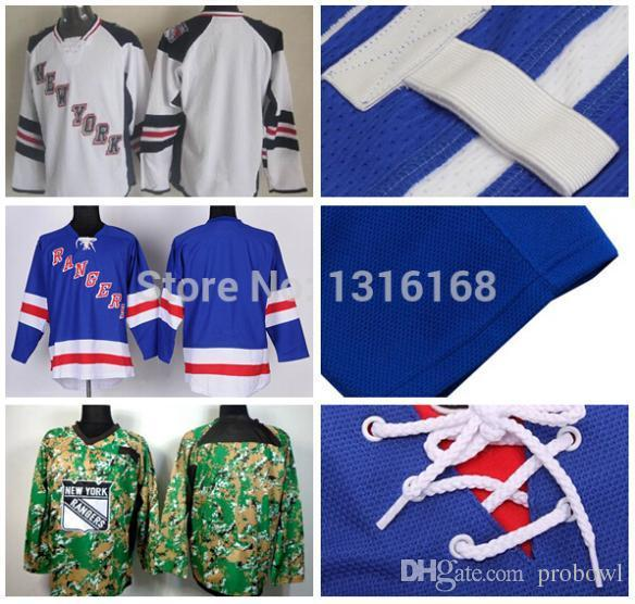 2018 new york rangers blank jersey blue white digital camo blank stadium series jerseys wholesale cheap blank rangers hockey jerseys from probowl