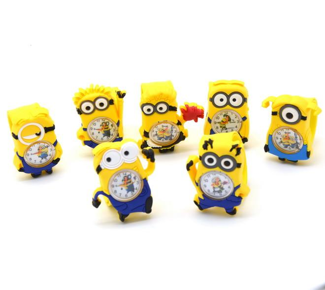 DHL 3D Eye Despicable Me Silicone slap montre minion Precious Milk Dad montres Enfants Montres Slap Snap Cartoon montre Bracelet Montre