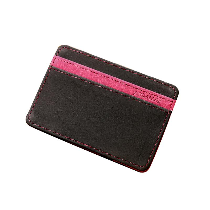 Hot Sale New Fashion Casual Minimalist PU Leather Wallets Men's and Women's High Quality Designs Mini Multipurpose ID Card Magic Wallets