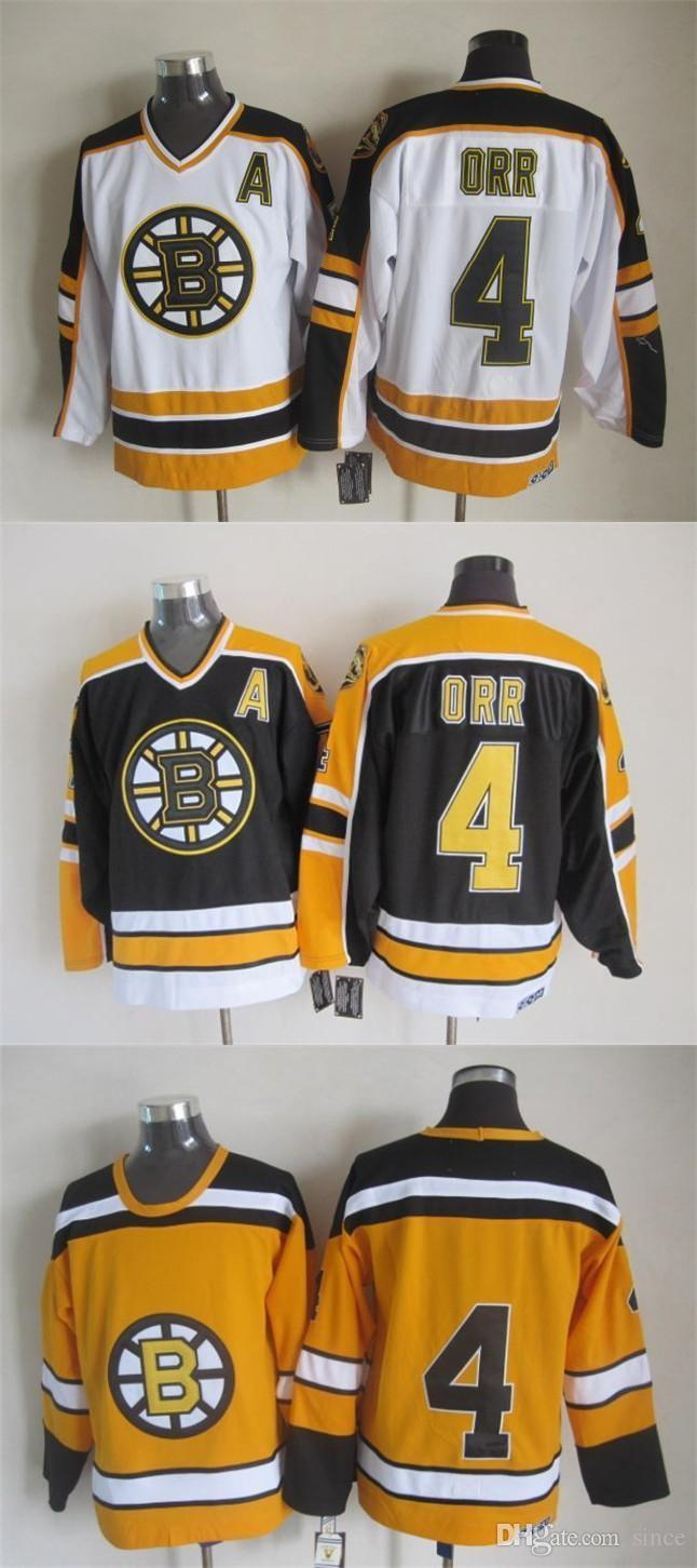 reputable site 7d279 61a00 2016 New, Vintage Bobby Orr Jersey 2015 New No Name,Cheap Boston Bruins  Yellow Black White CCM Hockey Jersey,Stitched,size 48-56,Best