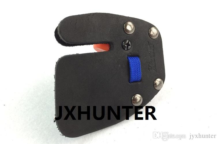 1 Stück Linksschießen Fingerschutz Finger Tabs für Recurve Bogenjagd blaue oder rote Farbe